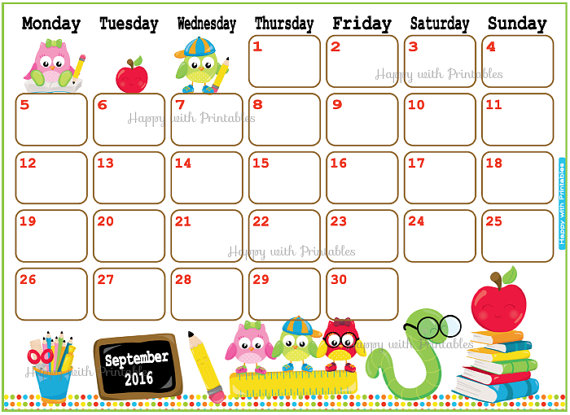 Calendar Art For Kids : September calendar cute fotolip rich image and